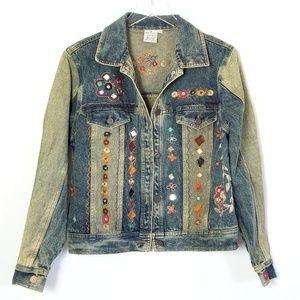 Parsley & Sage   Shisha Mirror Embroidered Jacket